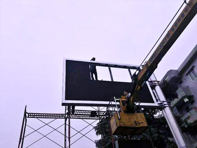 worker clean led display