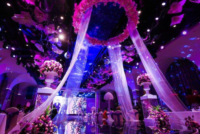 LED display in wedding