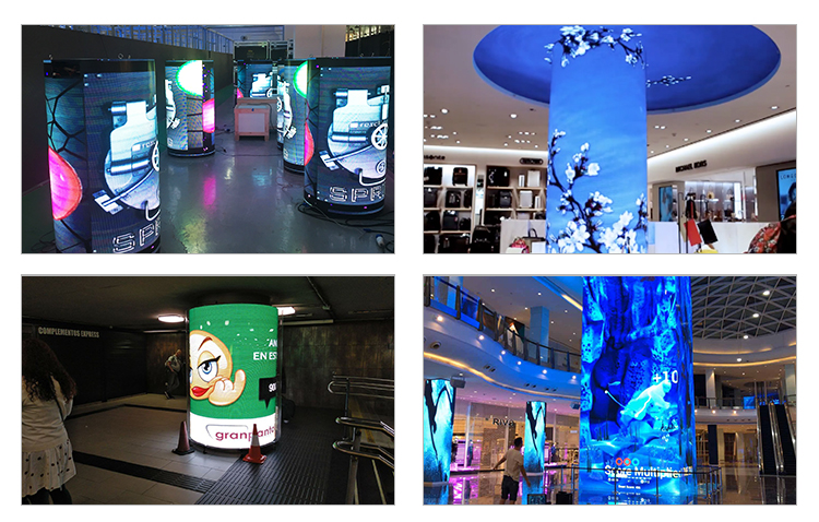 P5 rubber designed flexible led display panels used for projects