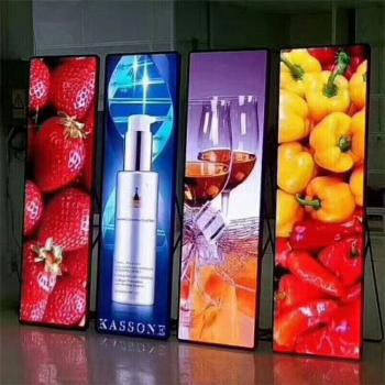 LED poster screen manufacturer_LED mirror screen price_vertical multimedia LED advertising machine